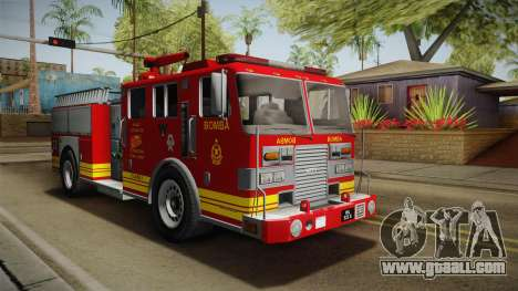 GTA 5 Firetruck Malaysia for GTA San Andreas right view