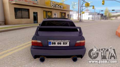 BMW M3 E36 Stanced for GTA San Andreas back left view