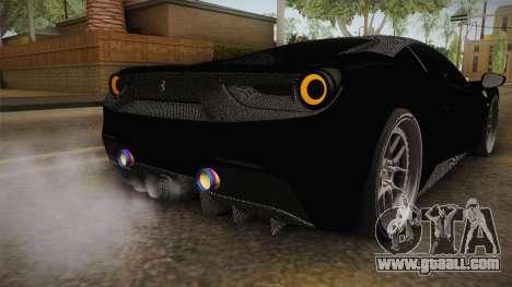 Ferrari 488 Tuned for GTA San Andreas interior
