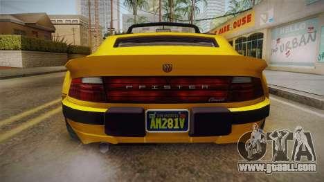 GTA 5 Pfister Comet Retro Cabrio for GTA San Andreas inner view