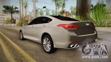 Hyundai Genesis 2016 for GTA San Andreas left view