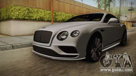 Bentley Continental GT Speed 2016 for GTA San Andreas right view