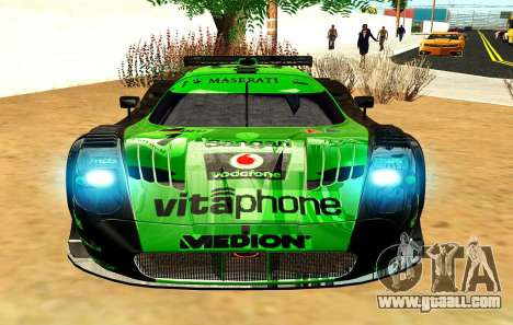 Maserati MC12 GT1 Exclusive for GTA San Andreas inner view
