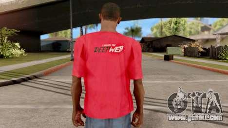 Deep Web T-Shirt for GTA San Andreas third screenshot