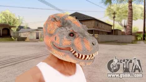 The Dinosaur Mask for GTA San Andreas second screenshot