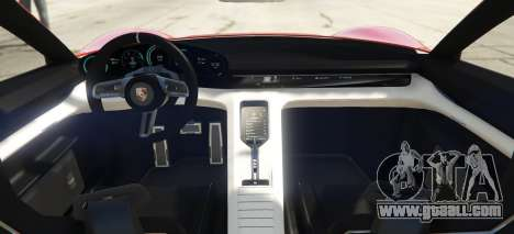 GTA 5 Porsche Mission E 2015 rear left side view