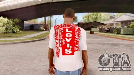 Levis T-shirt for GTA San Andreas third screenshot