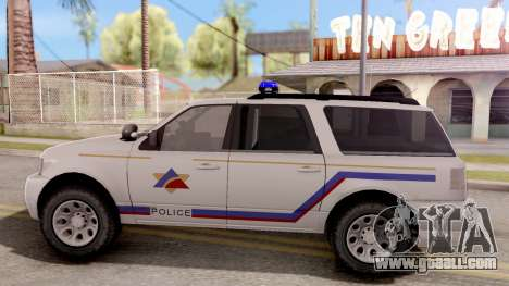 Dundreary Landstalker Hometown PD 2009 for GTA San Andreas left view