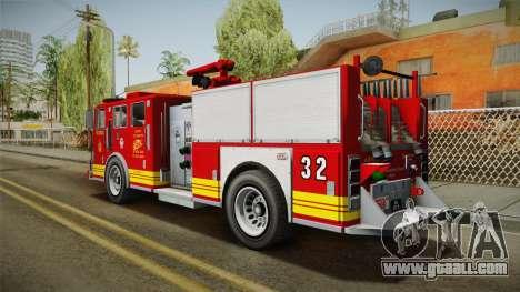 GTA 5 Firetruck Malaysia for GTA San Andreas left view