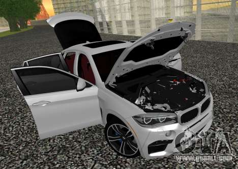 BMW X6M F86 for GTA San Andreas back view