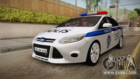 Ford Focus 1.6 Turkish Police for GTA San Andreas right view