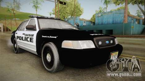 Ford Crown Victoria 2009 Chatham, New Jersey PD for GTA San Andreas right view