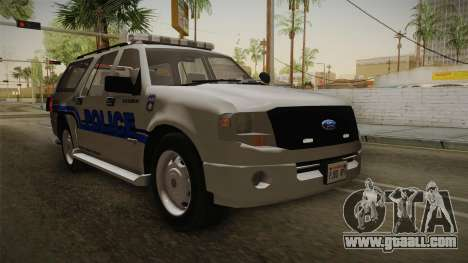 Ford Expedition 2013 SAWPD for GTA San Andreas right view