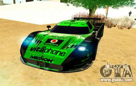 Maserati MC12 GT1 Exclusive for GTA San Andreas back view