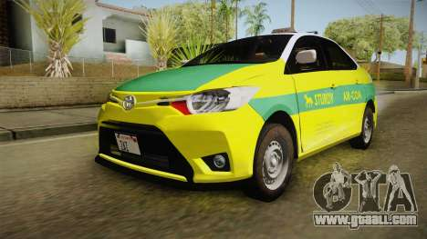 Toyota Vios Sturdy Philippine Taxi 2014 for GTA San Andreas