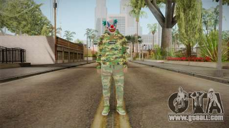 Skin GTA Online Clown Camouflaged for GTA San Andreas second screenshot