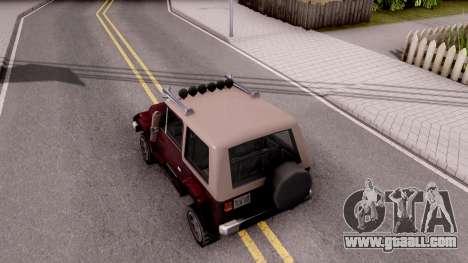Mesa Off-Road for GTA San Andreas back view