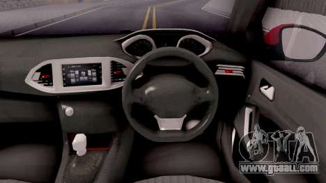 Peugeot 308 2016 for GTA San Andreas inner view