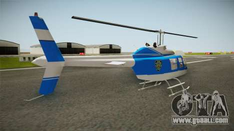 Bell 206 NYPD Helicopter for GTA San Andreas left view
