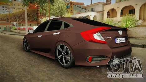 Honda Civic 2017 FC5 for GTA San Andreas left view