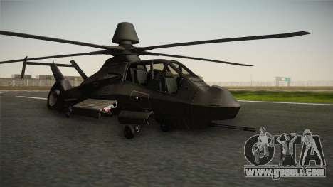 RAH-66 Comanche for GTA San Andreas back left view