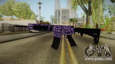 Tiger Violet M4 for GTA San Andreas second screenshot