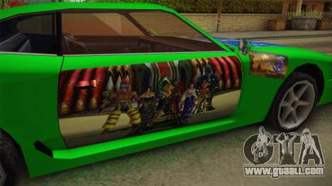 Jester Final Fantasy X Paintjob for GTA San Andreas inner view
