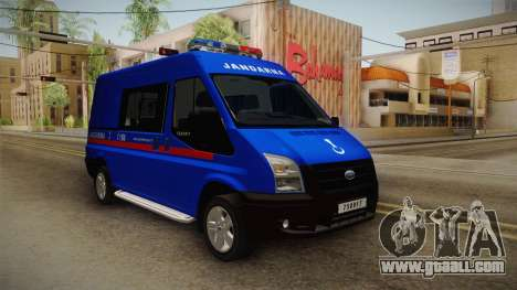 Ford Transit Turkish Gendarmerie for GTA San Andreas right view