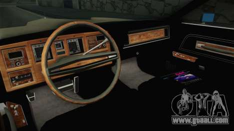 Lincoln Continental Mark IV 1972 for GTA San Andreas inner view