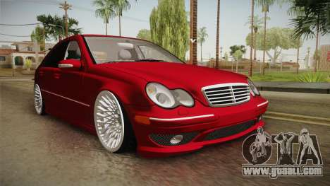 Mercedes-Benz C32 AMG Stanced for GTA San Andreas right view