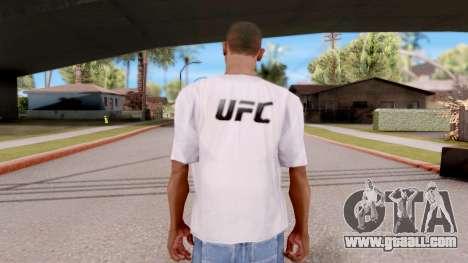 T-shirt EA Sports UFC for GTA San Andreas third screenshot