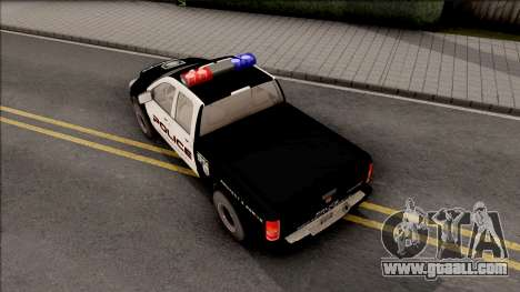 Dodge Ram High Speed Police for GTA San Andreas back view