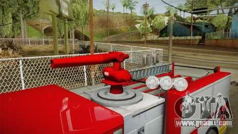 GTA 5 Firetruck Malaysia for GTA San Andreas inner view