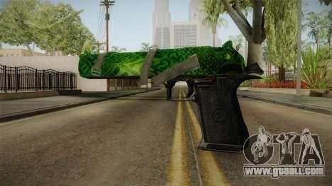 Green Desert Eagle for GTA San Andreas second screenshot