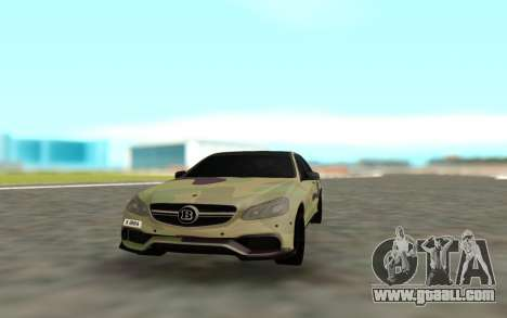 Brabus S63 for GTA San Andreas back view