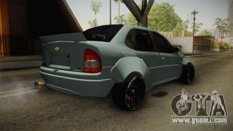 Chevrolet Corsa 2009 RocketBunny for GTA San Andreas back left view