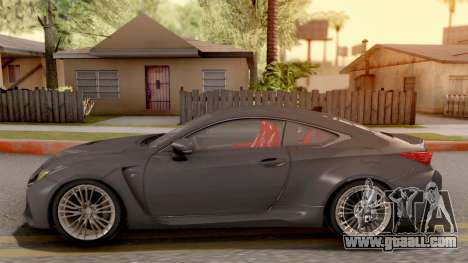 Lexus RC F for GTA San Andreas left view