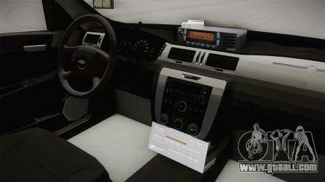 Chevrolet Impala 2008 LTZ Pilot Car for GTA San Andreas inner view