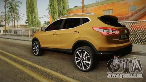 Nissan Qashqai 2016 HQLM for GTA San Andreas left view