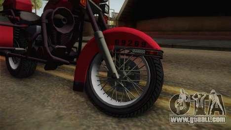 GTA 5 Police Bike for GTA San Andreas back view