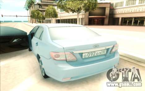 Toyota Corolla E150 for GTA San Andreas right view