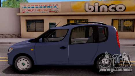 Skoda Roomster Stock for GTA San Andreas left view