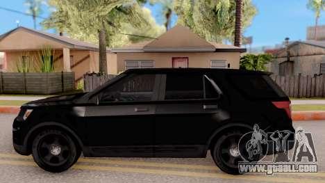 Ford Explorer FBI for GTA San Andreas left view