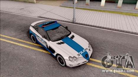 Mercedes-Benz McLaren 722 High Speed Police for GTA San Andreas right view
