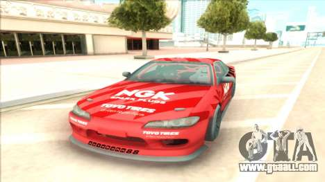 Nissan Silvia S15 NGK Red for GTA San Andreas back view
