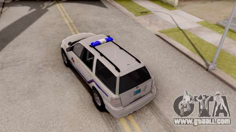 Dundreary Landstalker Hometown PD 2009 for GTA San Andreas back view