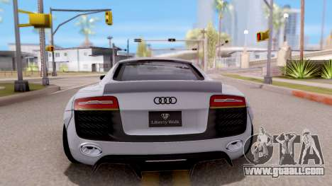 Audi R8 V10 Plus LB Performance for GTA San Andreas back left view