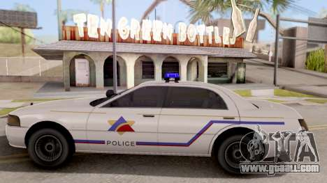 Dundreary Admiral Hometown PD 2009 for GTA San Andreas left view