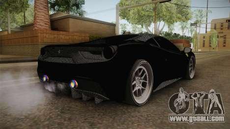 Ferrari 488 Tuned for GTA San Andreas right view