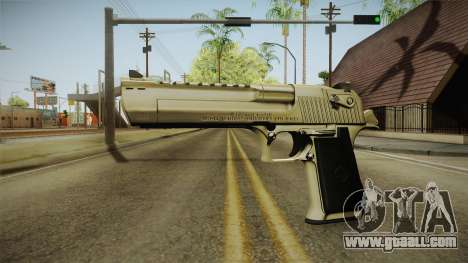Desert Eagle 24k Gold for GTA San Andreas second screenshot